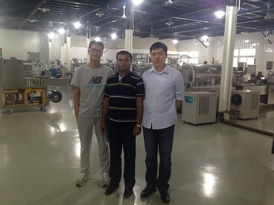Our agent from Bangladesh came to observe Blister Packaging Machine
