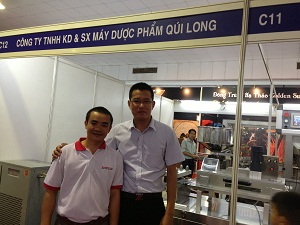 Customer purchased the Blister Machine in exhibition in Vietnam