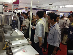 Our Blister Machine in Medi Pharmexpo Vietnam
