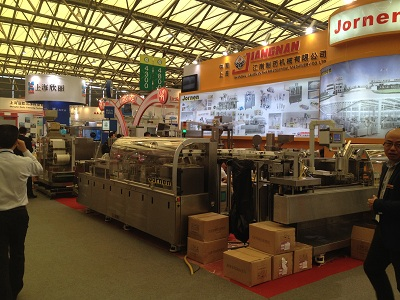 We displayed Blister Cartoner Line in China-Pharm 2013 in Shanghai