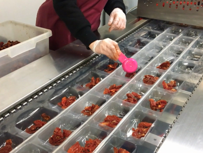Thermoforming Packaging Machine for red pepper